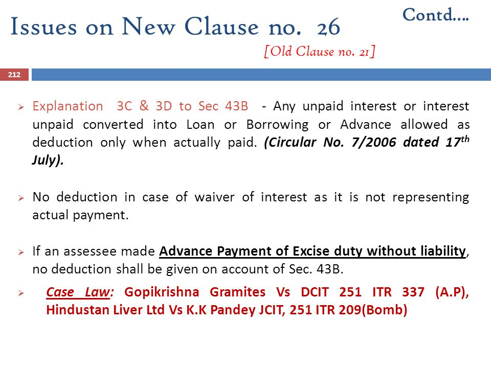 Issues on New Clause no. 26 [Old Clause no. 21]